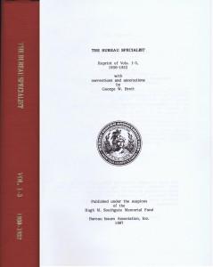 The Bureau Specialist, Volumes 1-3, 1930-32