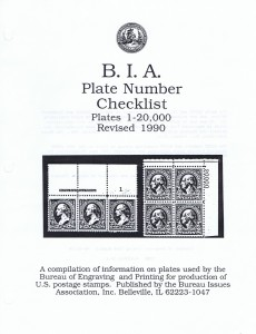 BIA Plate Number Checklist: Plates 1-20,000, Revised 1990